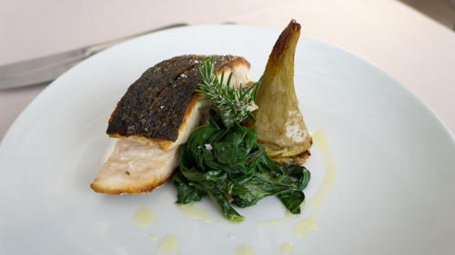 pesce con verdure